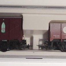 Trenes Escala: ELECTROTREN H0 1986 - SET VAGONES 50 ANIV. MABAR - SERIE LIMIMITADA 500 UNIDADES - Nº 303. Lote 127236075