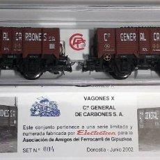 Trenes Escala: ELECTROTREN H0 1976 - SET VAGONES AAFG AÑO 2002 - SERIE LIMIMITADA 450 UNIDADES - Nº 004. Lote 127674919