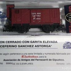 Trenes Escala: ELECTROTREN H0 1859 - CEFERINO SANCHEZ AAFG AÑO 2005 - SERIE LIMIMITADA 350 UNIDADES - Nº 004. Lote 127680255