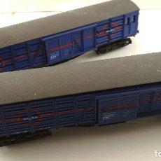 Trenes Escala: COMPOSICIÓN VAGONES TRANSFESA FRUTEROS. Lote 128552243