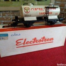 Trenes Escala: VAGON CISTERNA ELECTROTREN. CENTRAL LECHERA SANTANDER.. Lote 128644230