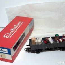 Trenes Escala: ELECTROTREN H0 1108 - VAGÓN DOS EJES BORDES BAJOS GRIS MERCANCÍA DIVERSA. Lote 128726607