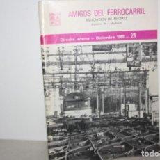 Trenes Escala: LIBRO AMIGOS DEL FERROCARRIL. AÑO 1980. Lote 132108186