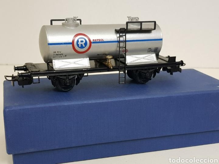 Electrotren renfe H0 Repsol vagon CISTERNA antiguo escala H0 gris simbología antigua segunda mano