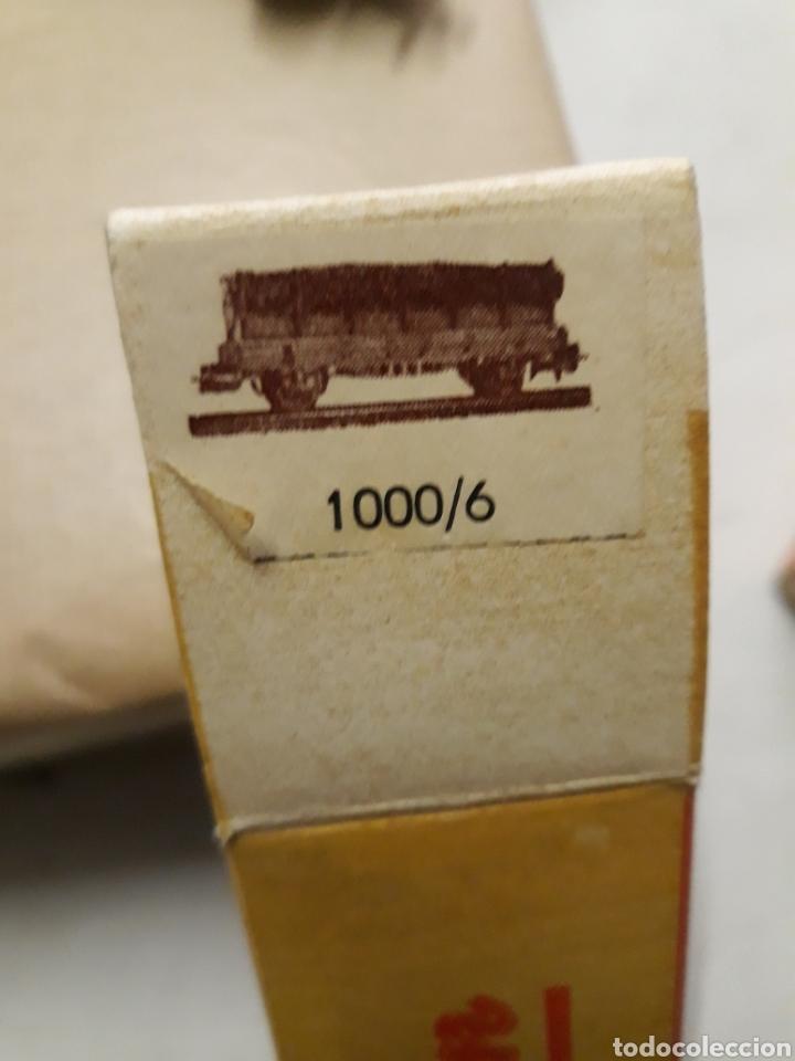 Trenes Escala: ELECTROTREN VAGON ANTIGUO TRANSPORTE DE TRONCOS EN CAJA - Foto 3 - 46241168