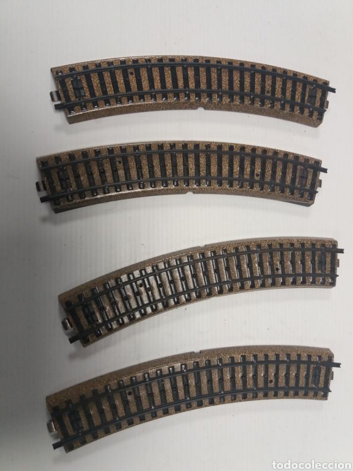 VIAS H0 ANTIGUAS 4 CURVAS ELECTROTREN (Juguetes - Trenes Escala H0 - Electrotren)