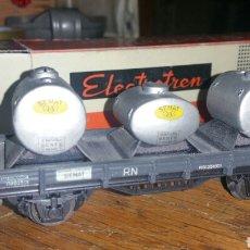Trenes Escala: VAGON CISTERNA DE ELECTROTREN AÑOS 50 EN SU CAJA ORIGINAL. Lote 139501882