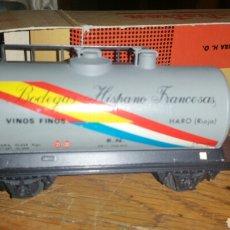 Trenes Escala: VAGÓN CISTERNA BODEGAS HISPANO FRANCESAS DE ELECTROTREN. Lote 139502796
