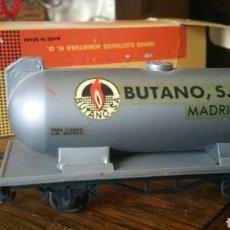 Trenes Escala: VAGÓN CISTERNA DE BUTANO MADRID ELECTROTREN EN SU CAJA ORIGINAL AÑOS 60. Lote 139503581