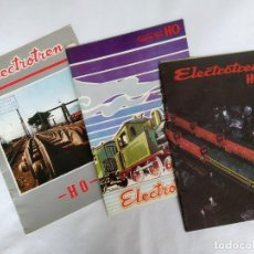 Trenes Escala: CATÁLOGOS ELECTROTREN AÑOS 1974, 1978 Y 1986. LOTE DE TRES CATÁLOGOS.. Lote 140498058