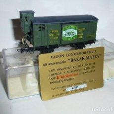 Trenes Escala: 0182-ELECTROTREN VAGÓN UNIFICADO CERRADO MZA JUGUETERÍA MATEY MZA H0 - 1/87. Lote 140650202