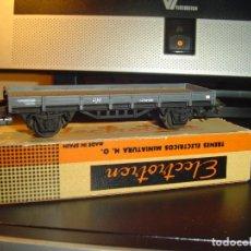 Trenes Escala: ELECTROTREN H0. VAGÓN BORDES BAJO 1000/1. Lote 140712882