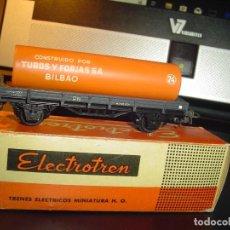 Trenes Escala: ELECTROTREN H0. VAGÓN TUBOS Y FORJAS DE BILBAO CORTO. Lote 140719806