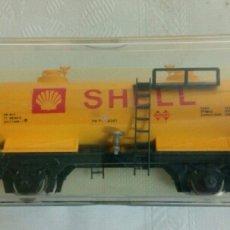 Trenes Escala: VAGÓN DE COMBUSTIBLE SHELL. Lote 140946742