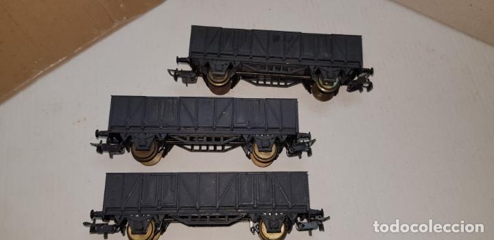 Trenes Escala: 3 vagones de carga grises electrotren ho h0 nuevos - Foto 3 - 141332674