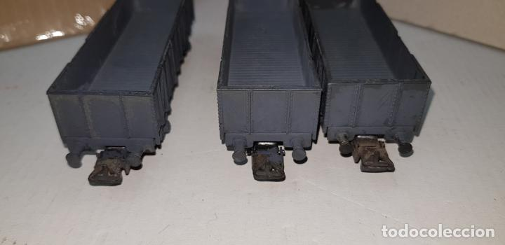 Trenes Escala: 3 vagones de carga grises electrotren ho h0 nuevos - Foto 4 - 141332674