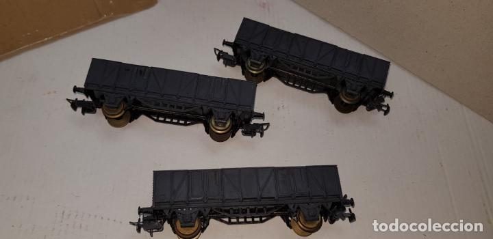 Trenes Escala: 3 vagones de carga grises electrotren ho h0 nuevos - Foto 7 - 141332674
