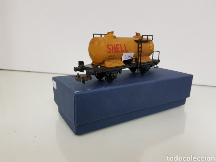 RENFE ELECTROTREN ANTIGUO ESCALA H0 VAGON CISTERNA SHELL DE 13 CM (Juguetes - Trenes Escala H0 - Electrotren)