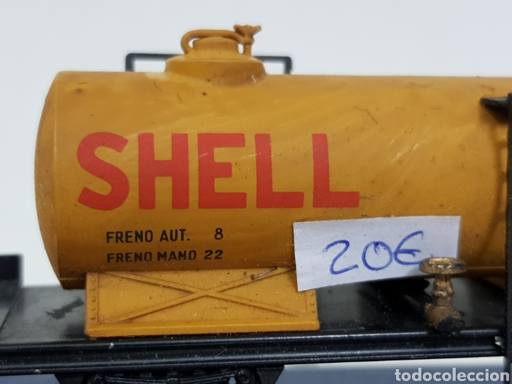 Trenes Escala: Renfe Electrotren antiguo escala H0 vagon cisterna Shell de 13 cm - Foto 6 - 142157350