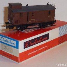 Trenes Escala: 0142-ELECTROTREN 856 FURGON DE CORREOS MARRÓN MZA . Lote 143105970