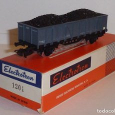 Trenes Escala: 0143-ELECTROTREN 1201 BORDES ALTOS CON CARGA DE CARBÓN R.N. GRIS. Lote 143108262