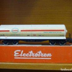 Trenes Escala: ELECTROTREN H0 VAGÓN GRAN CISTERNA DE BOGIES, DE ESSO S.A., REFERENCIA 5300. Lote 143167434