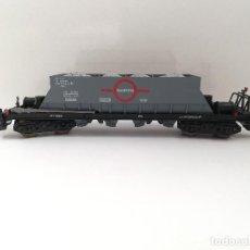 Trenes Escala: ELECTROTREN. VAGON DE TREN TRANSFESA, TOLVAS DE BOGUIES. CON SU CAJA DE PLASTICO. Lote 143986978