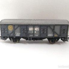 Trenes Escala: ELECTROTREN. VAGON DE TREN ELECTRICO. ABONOS. CON SU CAJA DE PLASTICO.. Lote 143990358
