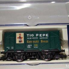 Trenes Escala: VAGÓN CERRADO UNIFICADO TIO PEPE DE ELECTROTREN REF. 1994. Lote 151411145