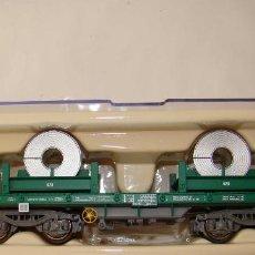 Trenes Escala: ELECTROTREN VAGON PLATAFORMA CON CARGA DE BOBINAS REF. 5165K. Lote 151288432