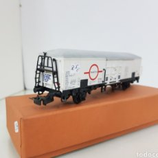 Trenes Escala: VAGON ELECTROTREN TRANSFESA ESPAÑA RN BLANCO ESCALA H0 CORRIENTE CONTINUA DE 17 CM. Lote 150357280