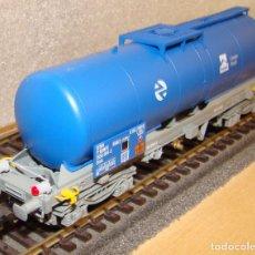 Trenes Escala: ELECTROTREN VAGON CISTERNA CARGAS RENFE REF.: 5861K CON LUCES DE COLA. Lote 151289938