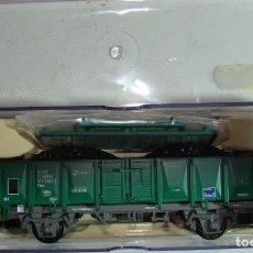 Trenes Escala: ELECTROTREN VAGON ABIERTO CARGAS RENFE REF.: 1260 ENVEJECIDO CON CARGA DE CARBON. Lote 151291058