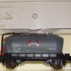 Trenes Escala: VAGON TOLVA CEMENTOTRANSFESA RENFE DE ELECTROTREN ESCALA H0 REF.: 1610. Lote 151418274