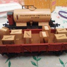 Trenes Escala: DOS VAGONES ELECTROTREN VINTAGE. Lote 153563890