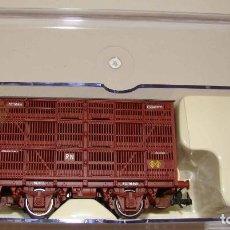 Trenes Escala: VAGÓN JAULA UNIFICADO RENFE DE ELECTROTREN REF. 0602 ROJO OXIDO. Lote 206894682