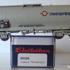Trenes Escala: ELECTROTREN VAGON CISTERNA TRANSFESA RENFE REF: 5832 ESCALA H0. Lote 159400962