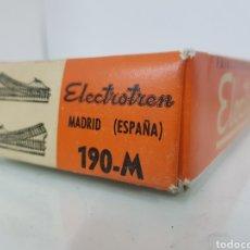 Trenes Escala: ELECTROTREN 190 M DESVÍOS CON PALANCA MECÁNICA ESCALA H0 METAL 18,5 CM. Lote 160119797
