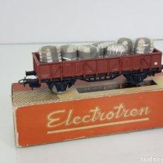 Trenes Escala: ELECTROTREN ESCALA H0 1106 VAGÓN DE MERCANCÍAS DE 12 CM CON ALPACAS CORRIENTE CONTINUA RENFE. Lote 162714102