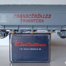 Trenes Escala: VAGON TOLVA TRANSCEREALES TRANFESA ESCALA H0 DE ELECTROTREN REF: 8001K. Lote 247965140