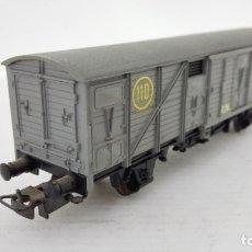 Trenes Escala: VAGON TRANSPORTE DE MERCANCIAS, ELECTROTREN, CAJA DE PLASTICO ORIGINAL. Lote 173574628