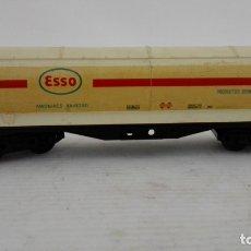 Trenes Escala: VAGON CISTERNA, ELECTROTREN, ESSO, AMONIACO ANHIDRO, CAJA DE PLASTICO ORIGINAL. Lote 173575248