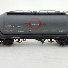 Trenes Escala: VAGON CISTERNA, ELECTROTREN, TRANSFESA, CAJA DE PLASTICO ORIGINAL. Lote 173575417
