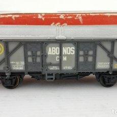 Trenes Escala: VAGON DE TREN MERCANCIAS, ABONOS, RN 1214, ELECTROTREN 1309, CAJA ORIGINAL . Lote 173576082