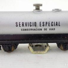 Trenes Escala: VAGON DE TREN SERVICIO ESPECIAL, CONSERVACION DE VIAS, ELECTROTREN 1804, CAJA ORIGINAL . Lote 173576305