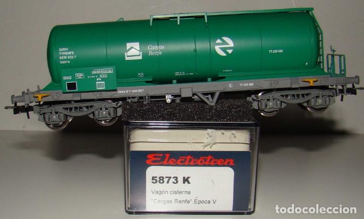 ELECTROTREN VAGON CISTERNA CARGAS RENFE REF: 5873K ESCALA H0 (Juguetes - Trenes Escala H0 - Electrotren)