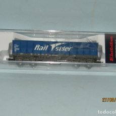 Trenes Escala: VAGÓN ABIERTO RENFE TIPO EALOS 4 EJES A BOGIES RAIL SIDER EN ESCALA *H0* DE ELECTROTREN. Lote 204145120