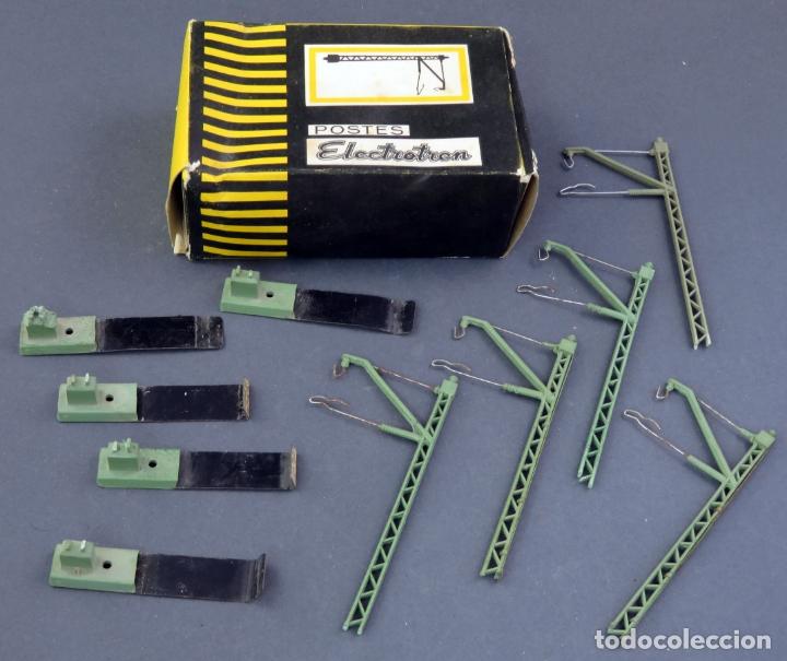 5 POSTES CATENARIA TREN ELECTROTREN H0 CON CABLE Y CON CAJA (Juguetes - Trenes Escala H0 - Electrotren)