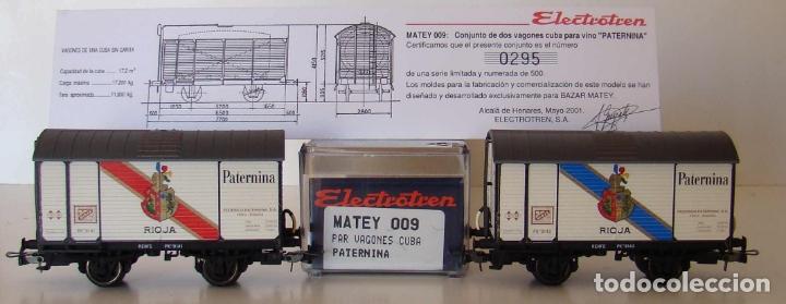 ELECTROTREN PAR DE VAGONES CUBA PATERNIA MATEY 009. ESCALA H0 SERIE LIMITADA (Juguetes - Trenes Escala H0 - Electrotren)