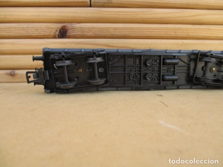 Trenes Escala: Electrotren vagon boguies plataforma CON CARGA DE troncos - Foto 4 - 179211906